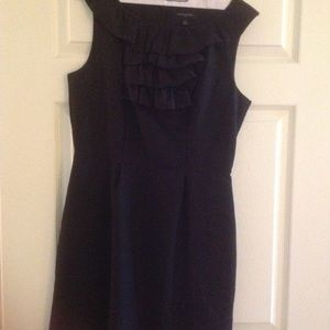 Banana Republic ruffle front black dress